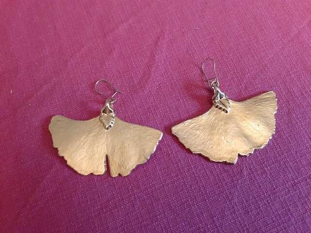 Boucles d'oreilles en feuilles de Ginkgo